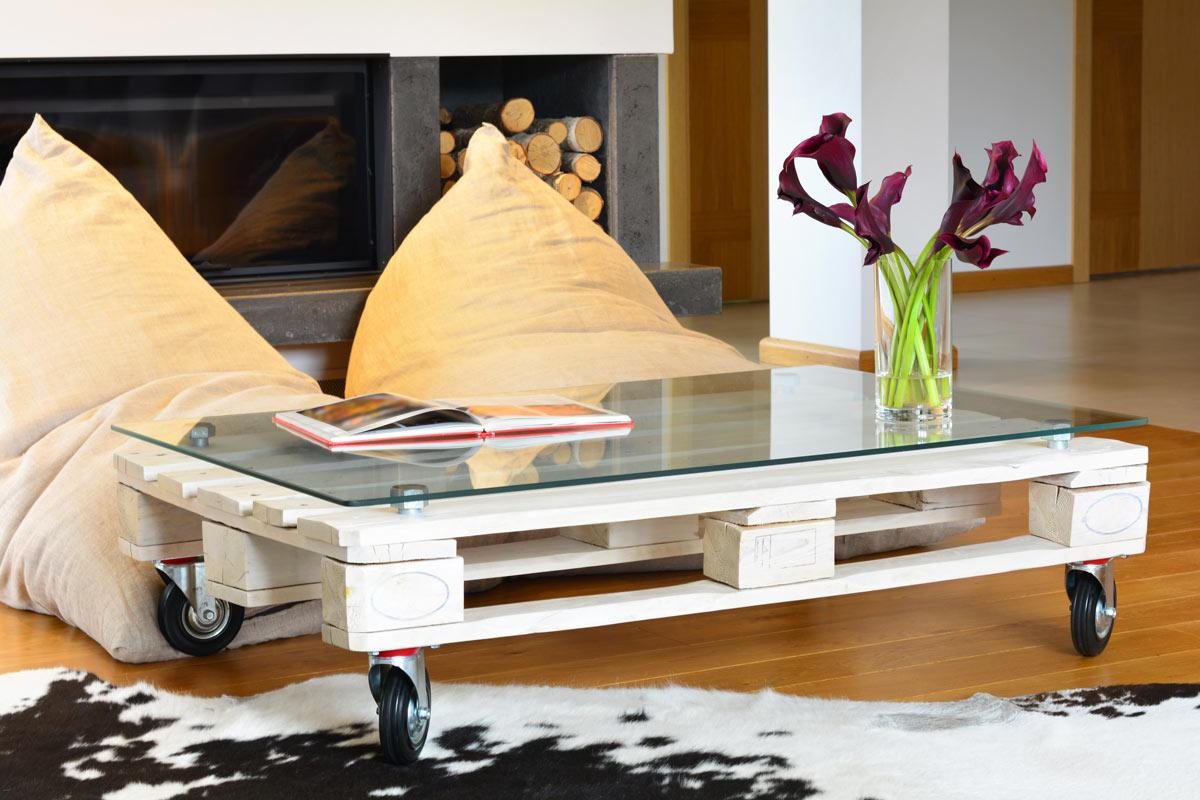 Tavolino da salotto fai da te con riciclo creativo