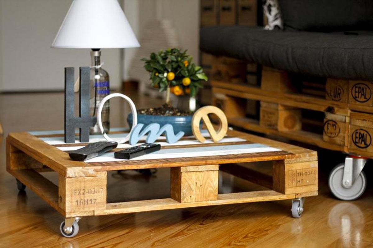 tavolino da salotto fai da te con bancali