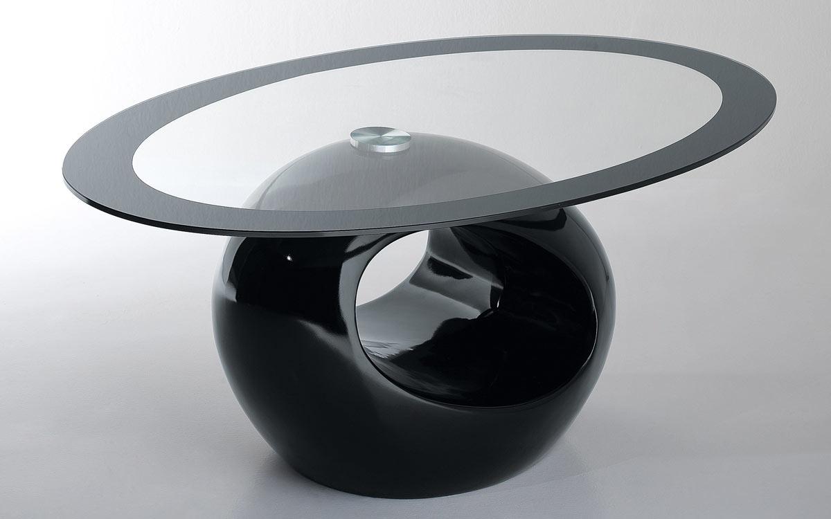 Tavolino tondo in vetro design Mondo Convenienza.