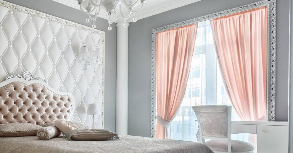 Le tende per la camera da letto shabby chic