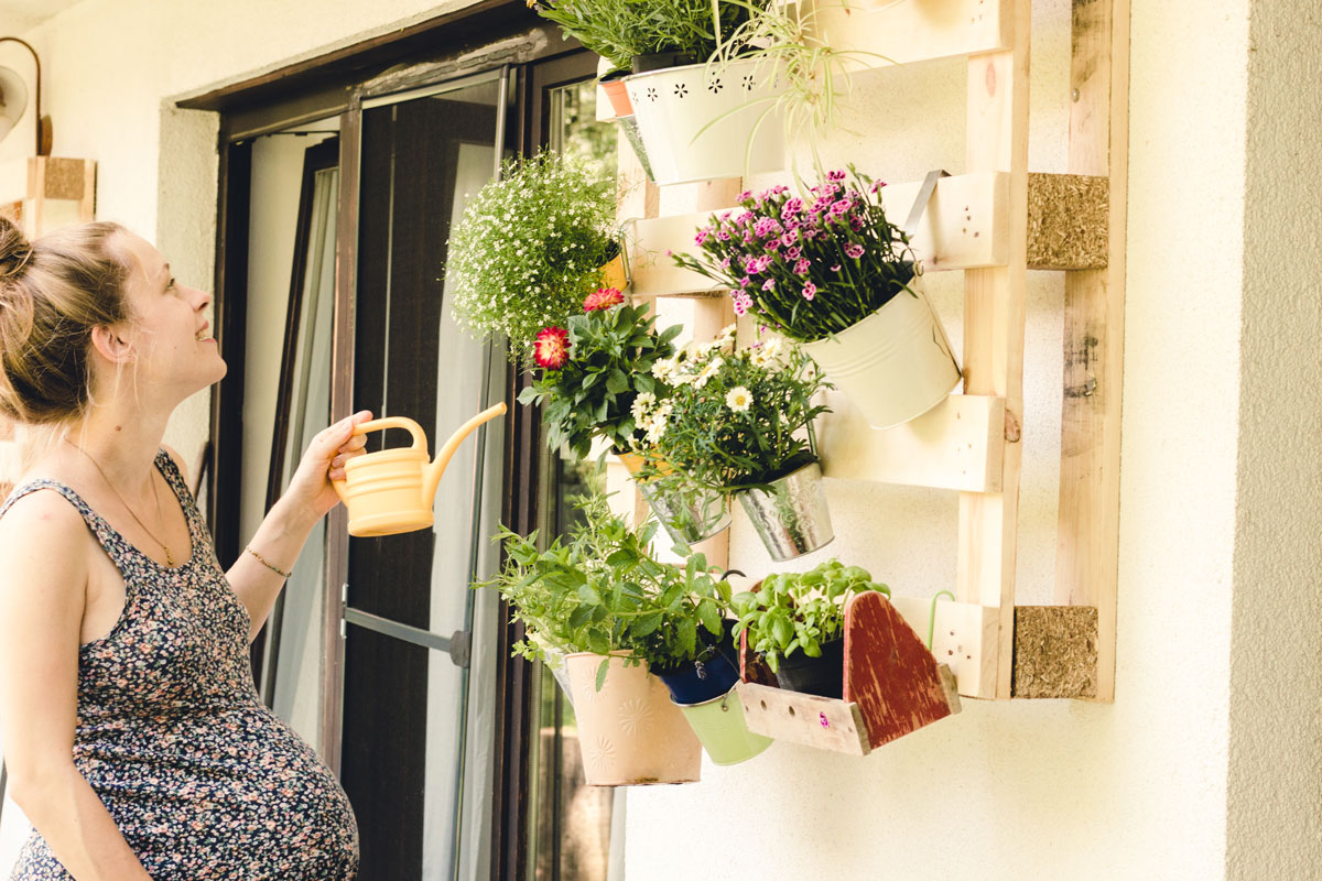 arredare un balcone low cost con il riciclo