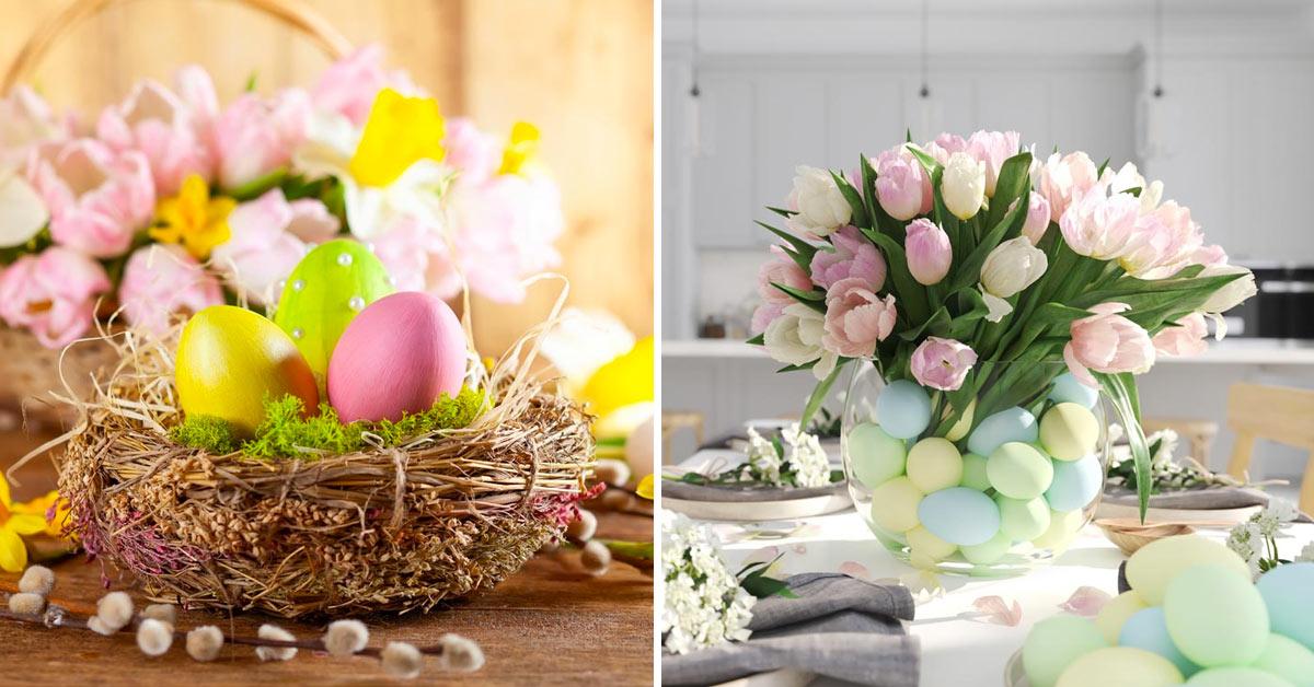 centrotavola fai da te con le uova di Pasqua