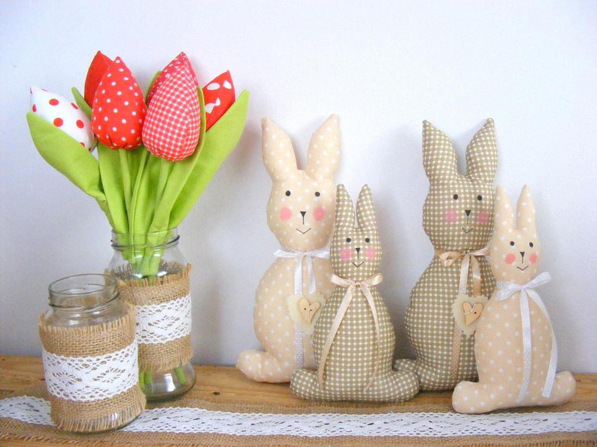 Coniglietti creativi di Pasqua fai da te.