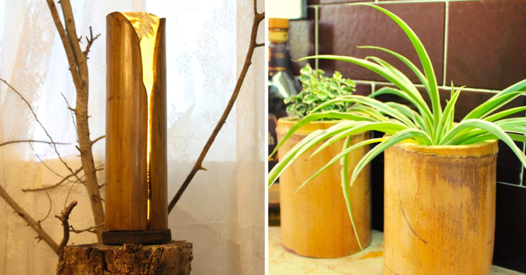 Decorazioni in bambù per la casa.