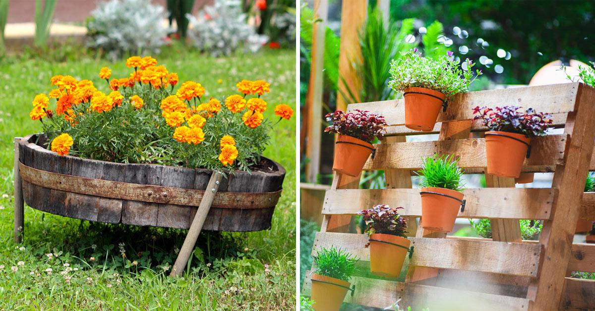Giardino riciclo creativo.