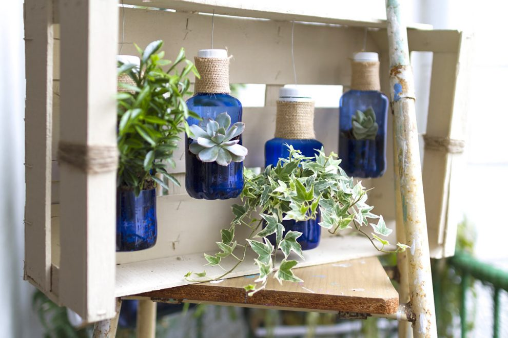 riciclo creativo decorazioni giardino.