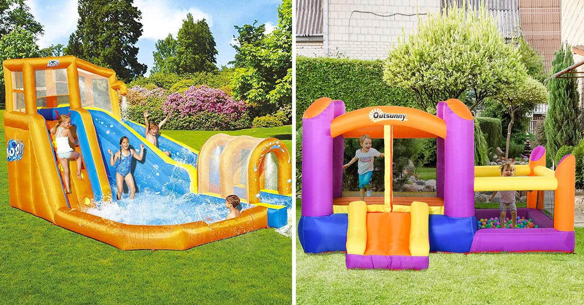 Aera giochi in giardino per bambini.