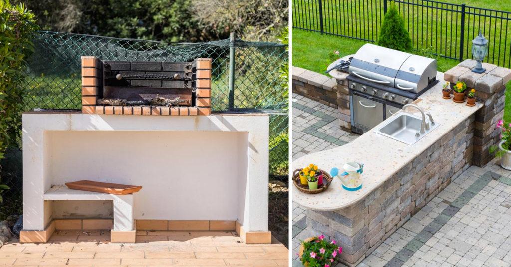 Arredare la zona barbecue in giardino.