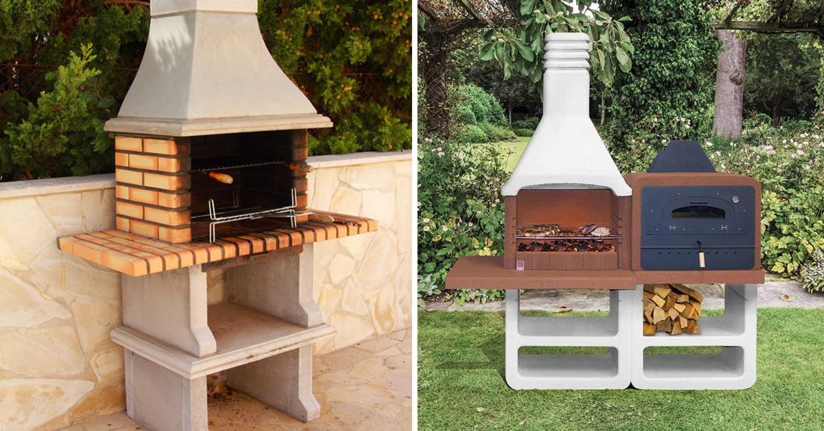 Barbecue in muratura.