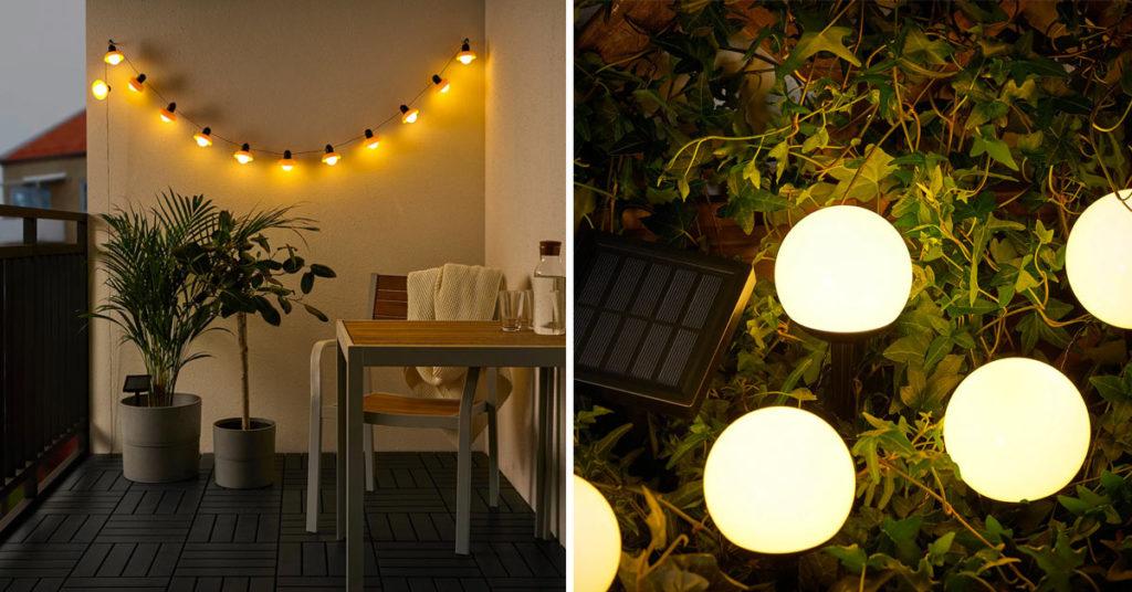 Illuminare giardini e balconi con IKEA.