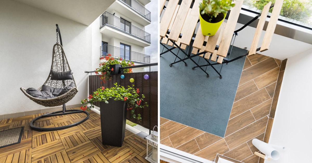 Pavimento per balconi e terrazzo.