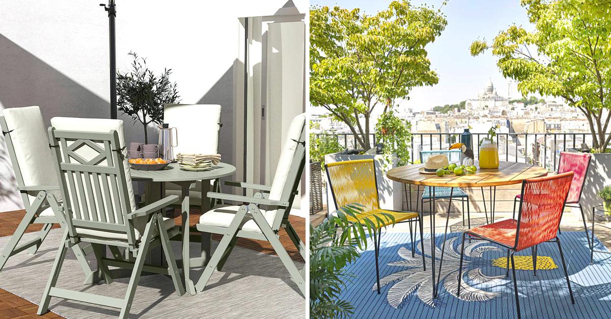 Tavoli e sedia da giardino.