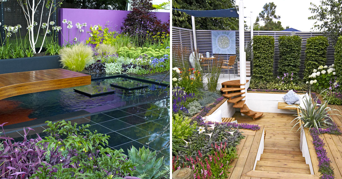 arredare un giardino moderno