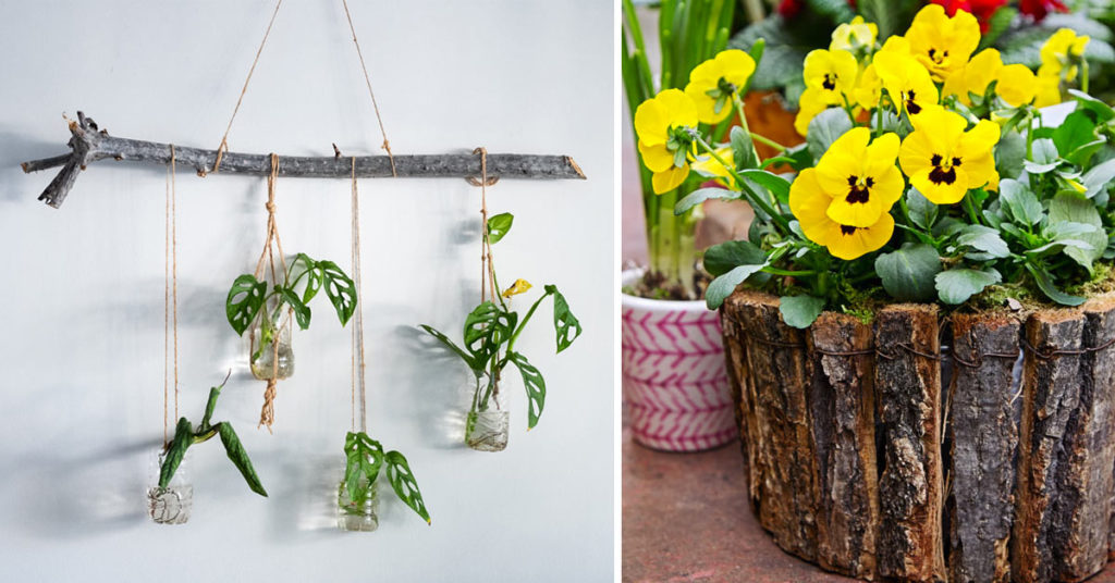 Elementi naturali e riciclo creativo