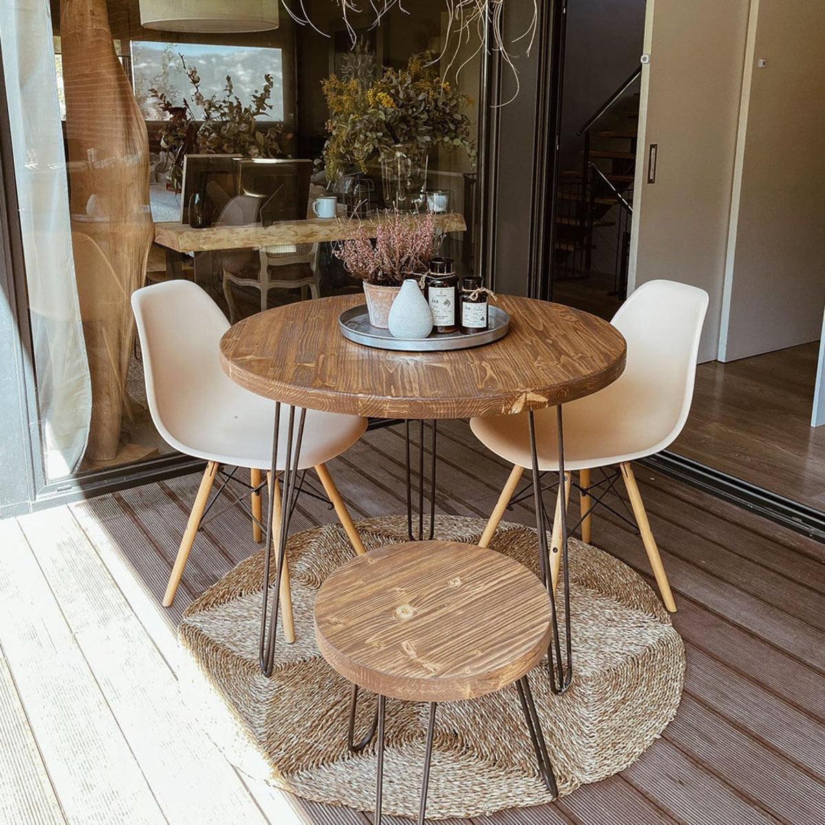 tavolini da giardino in legno tondo
