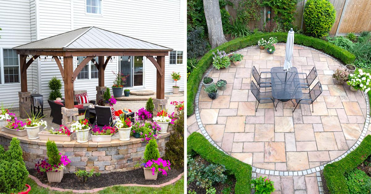 Arredare il patio in estate.