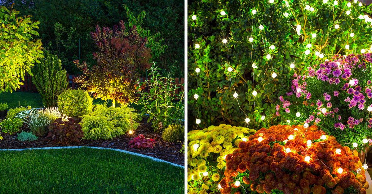 Illuminare aiuole in giardino.
