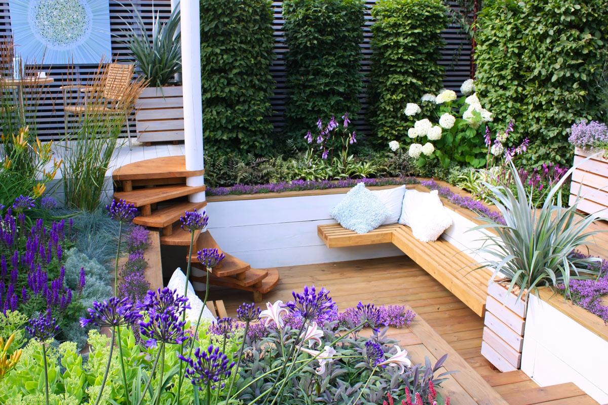 Creare un'area relax in giardino.