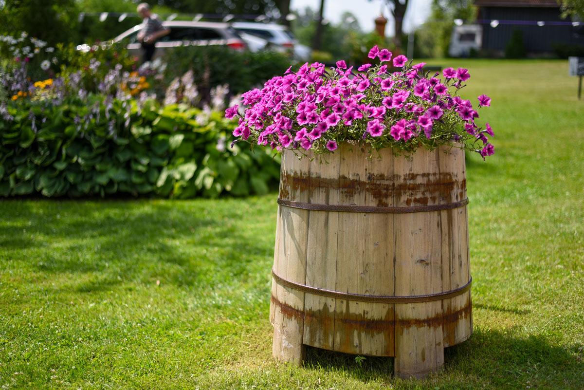 Arredare il giardino con il riciclo.
