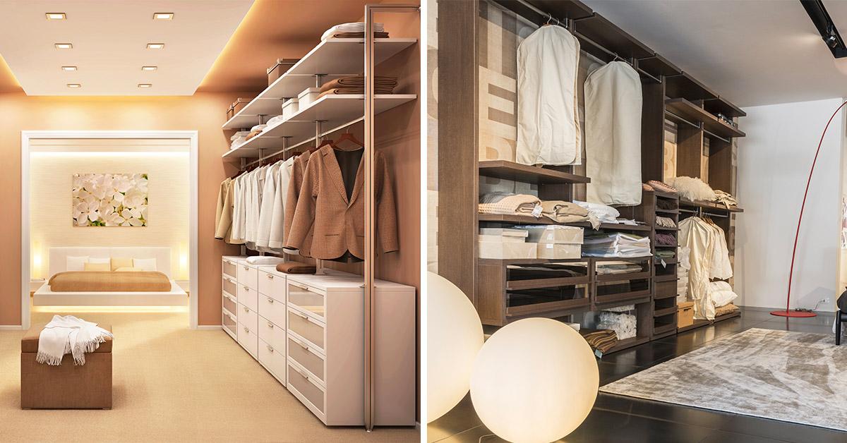 Come ricavare lo spazio in camera da letto per realizzare la cabina armadio