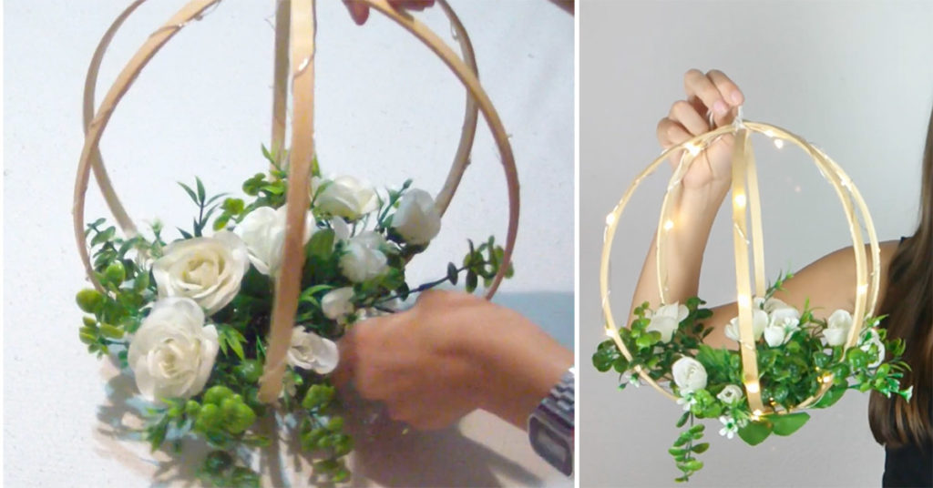 videotutorial per realizzare una decorazione floreale e luminosa per il giardino
