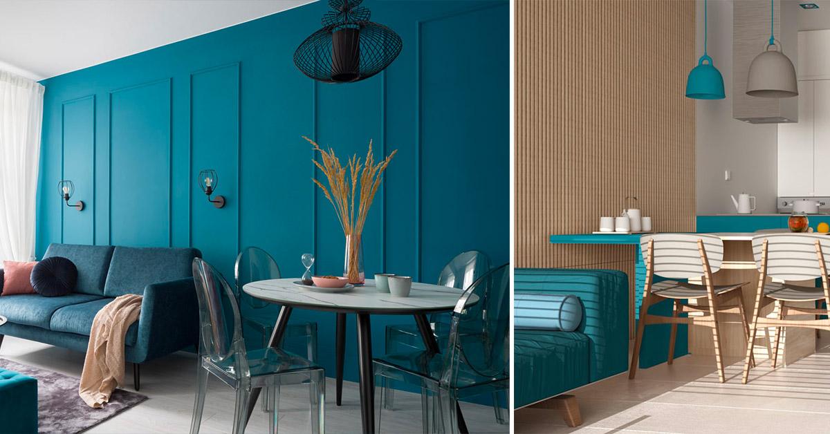 arredare casa con il colore petrolio tanto di moda