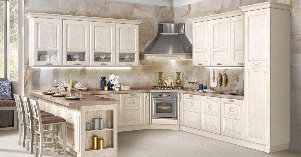7 esempi per arredare la cucina con Mondo Convenienza in stile classico e senza tempo