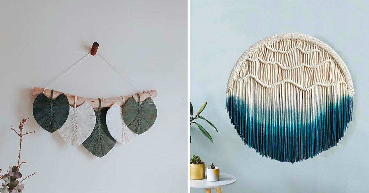 Selezione di decorazioni boho per le pareti di casa e per rendere l'arredo perfetto