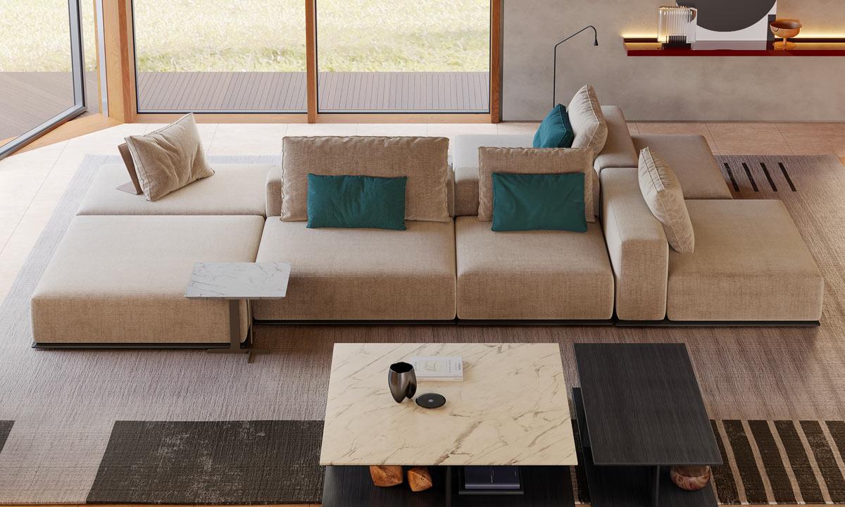 perché scegliere un divano bifacciale componibile
