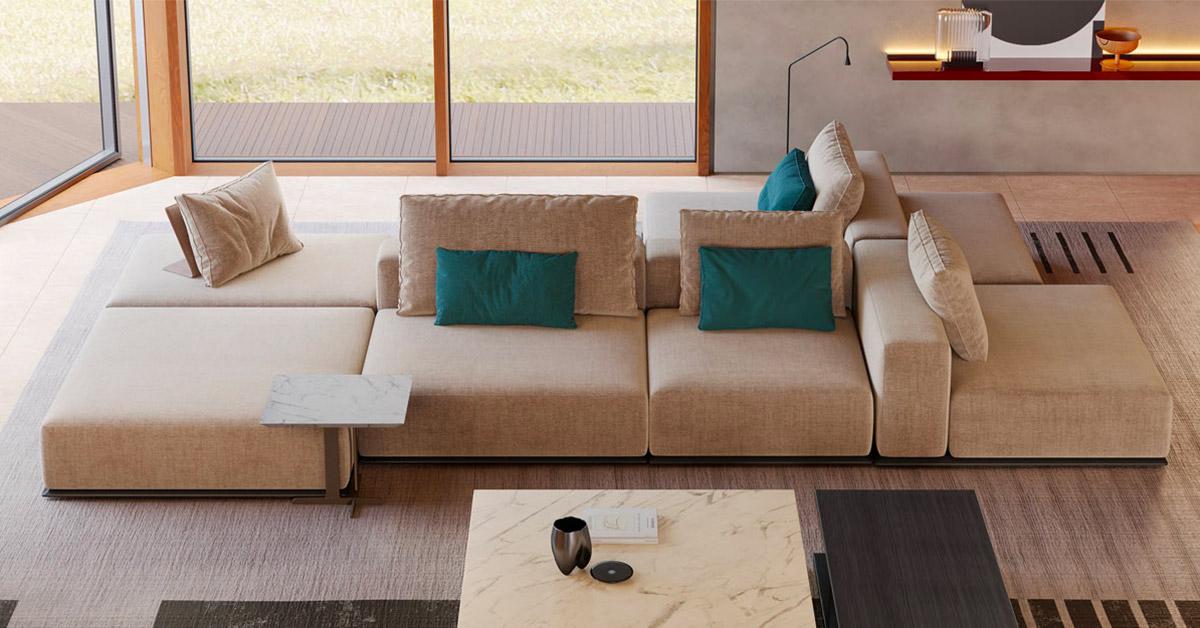 Perché scegliere un divano bifacciale modulare?