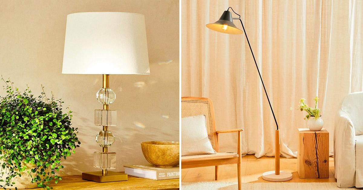 Lampade da salotto Zara Home per arredare con stile la casa
