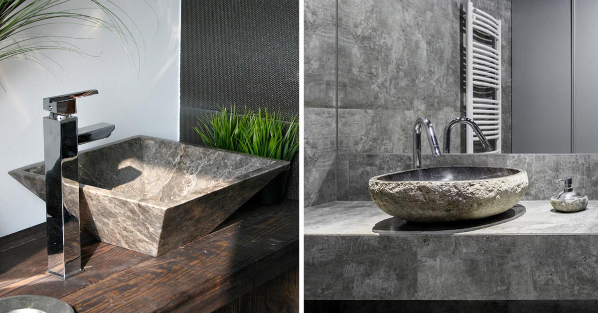 Bagni con lavandini in pietra.