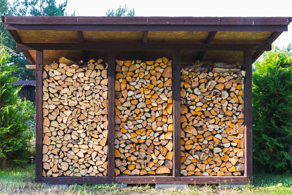 come realizzare una legnaia fai da te velocissima