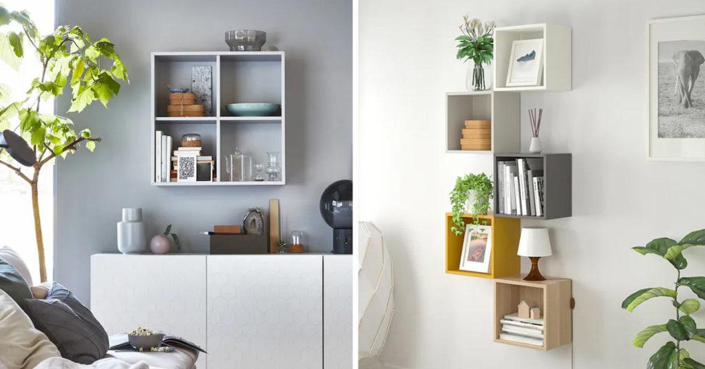Mobile con i cubi IKEA.