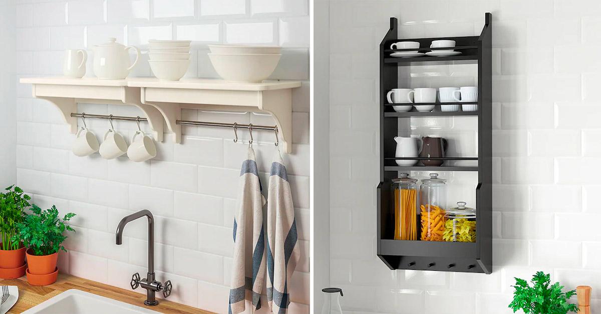 Mensole per organizzare al massimo la cucina grazie alle proposte Ikea