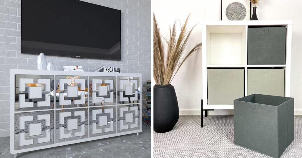 Trasformazione del mobile IKEA Kallax.