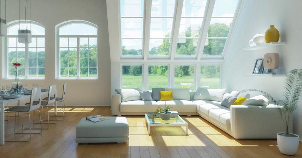 Arredare il soggiorno con il colore bianco