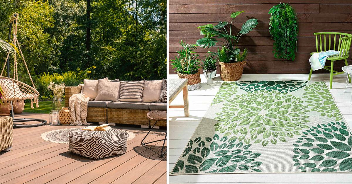 Tappeti da esterno per arredare con glamour il patio esterno