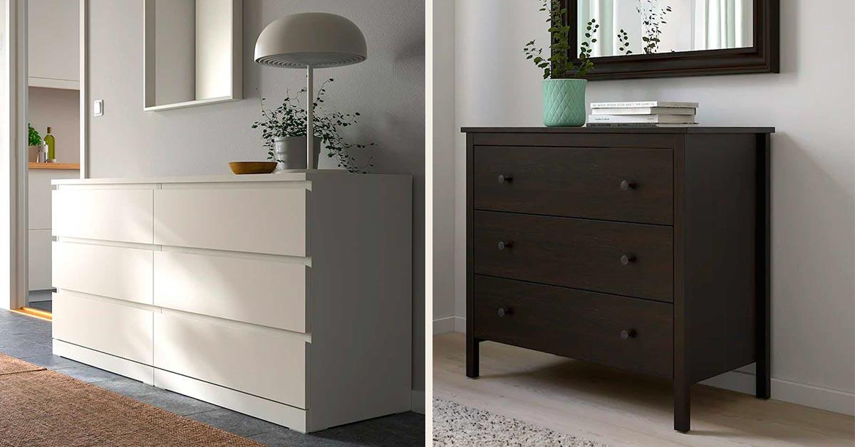 7 modelli di cassettiera per camere da letto smart