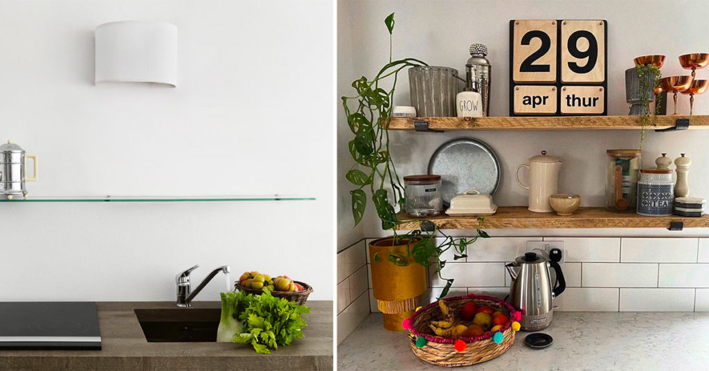Idee alternative da utilizzare al posto dei pensili in cucina