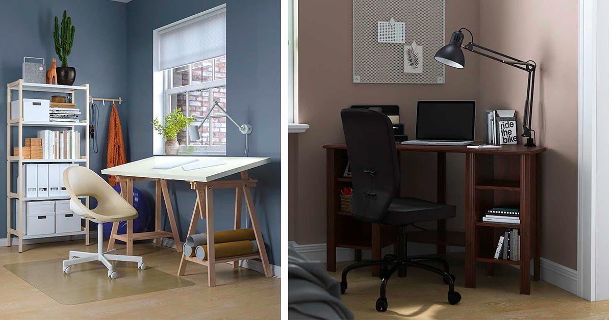 idee per arredare l'angolo studio con ikea