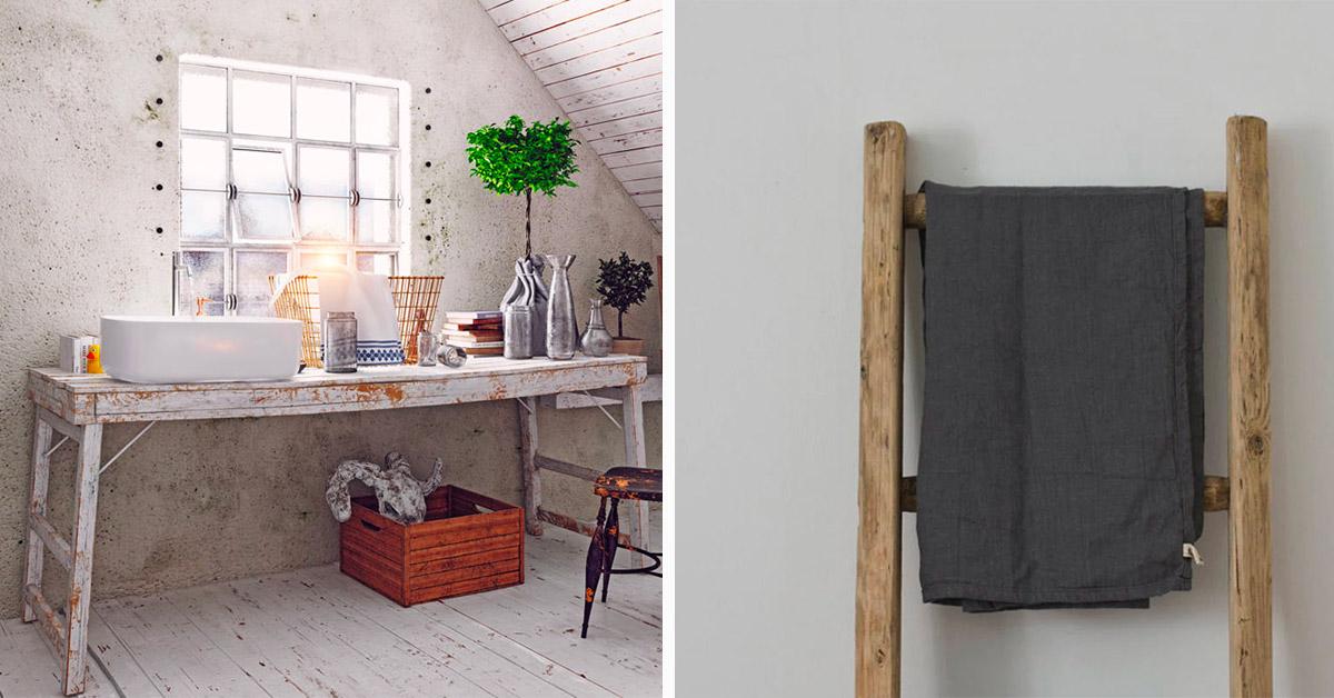 idee per arredare il bagno con il riciclo creativo