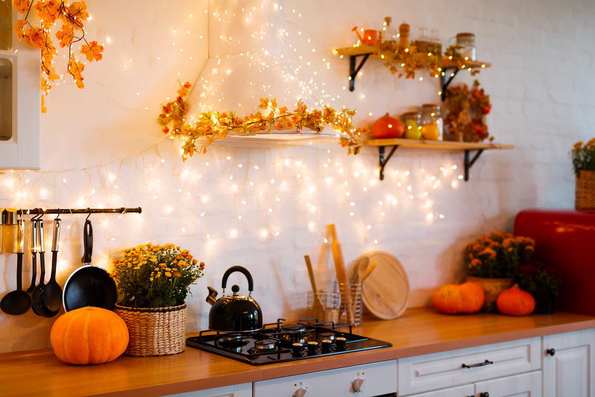 decorazioni autunnali per cucina