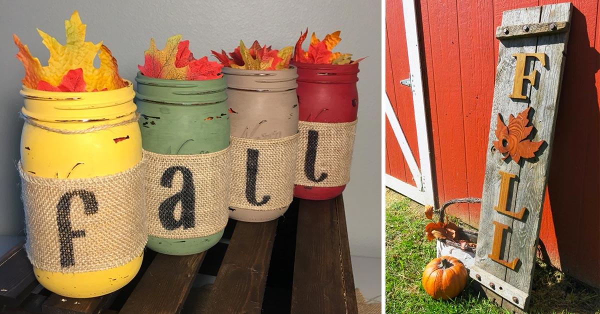 Decorare l'autunno con il riciclo.