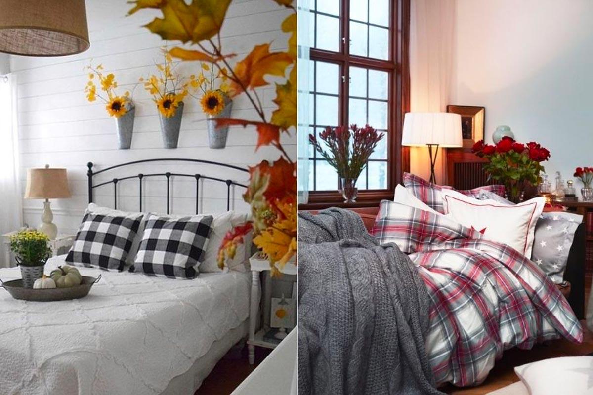 camera da letto autunnale