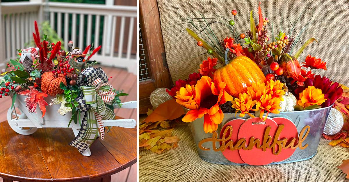 esempi di centro tavola per l'autunno