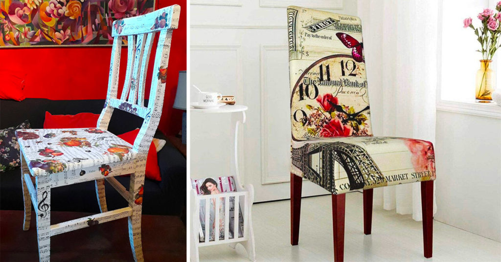 Come decorare e cambiare stile alle sedie con il decoupage