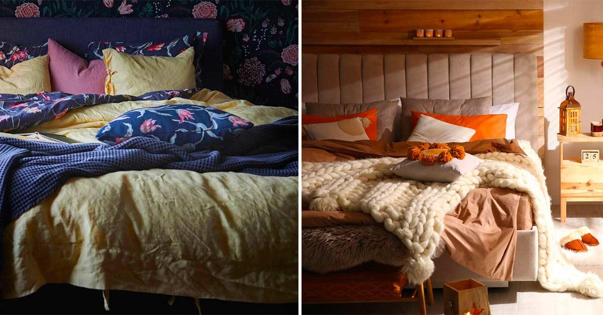 Camera da letto autunnale.