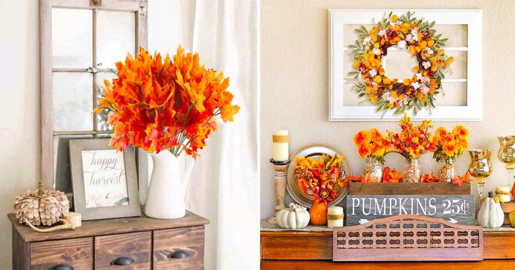 decorare una casa shabby chic per l'autunno