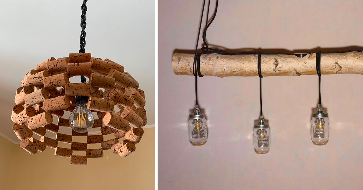 Riciclo creativo per realizzare lampadari fai da te